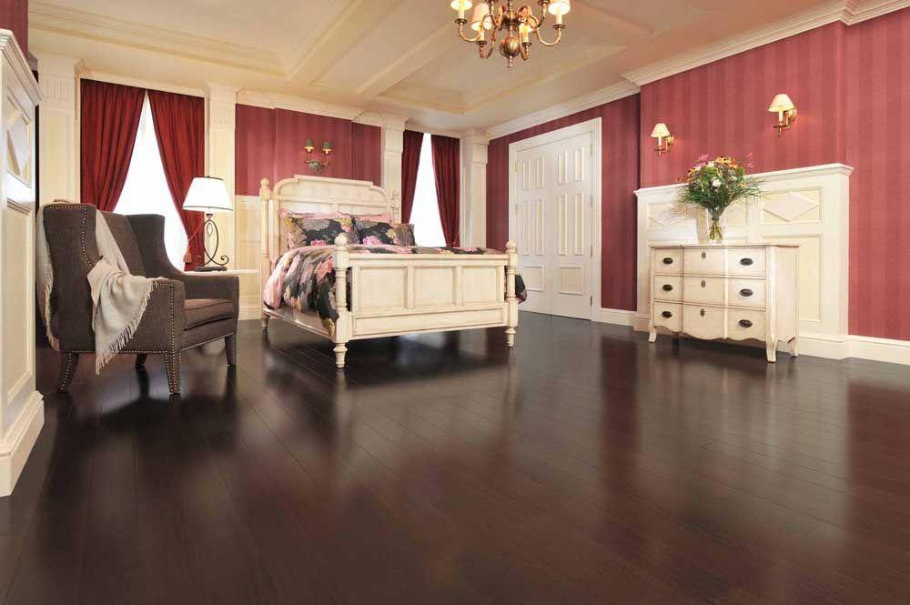 African Mahogany Flooring In Exotic Design Bedroom Ideas