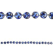 Bead Gallery® Czech Glass Lentil Beads, Sapphire