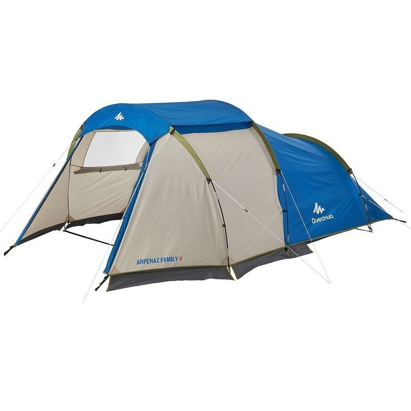 Tente Arpenaz Family 4 4 Personnes 1 Chambre Mini Sejour Camping En Tente Camping Tentes