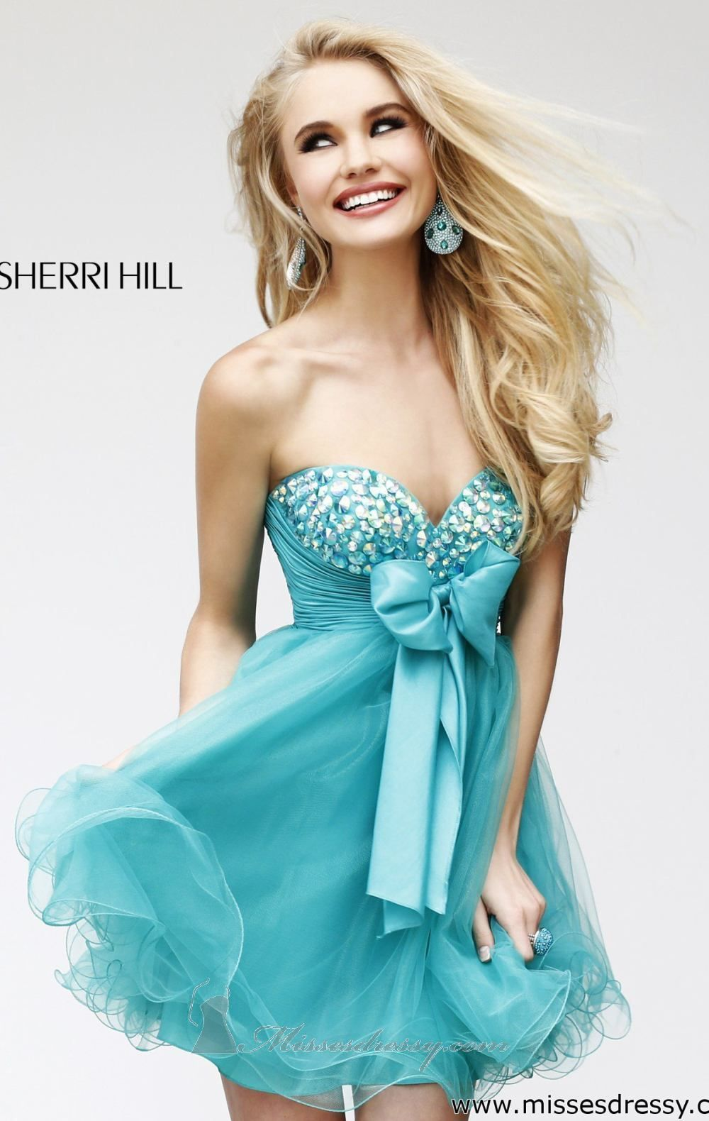 Empire Embellished Dress by Sherri Hill | Thighs, Empire and Neckline