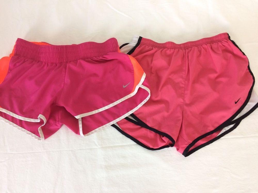 Lot of 2- Nike Women's Running Shorts Pink Sz. Medium #Nike #Shorts