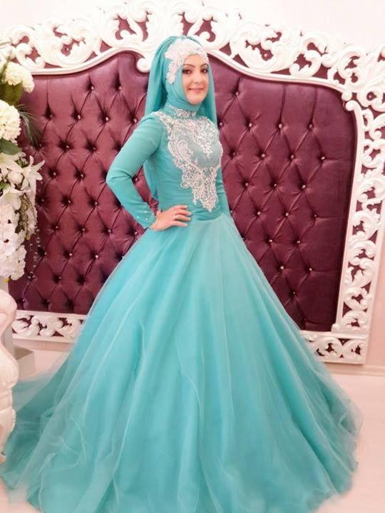 Tesettür nişanlık modelleri-3 | Muslim Wedding Dress Ideas ...