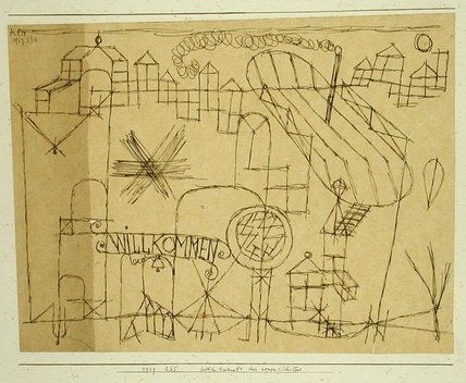Paul Klee  'Joyous Arrival of the New Boat'  1919