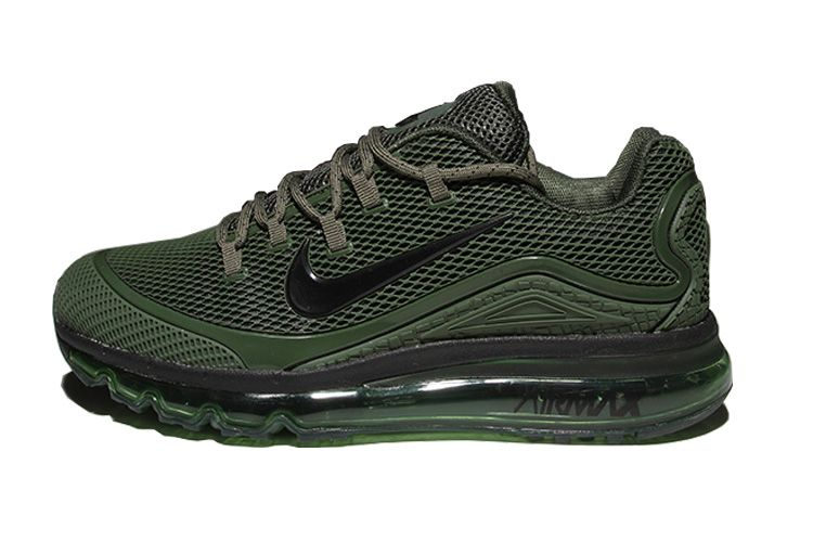 58df407605 Men's Nike Air Max 2018 Elite KPU TPU Shoes Army Green | kicks ...