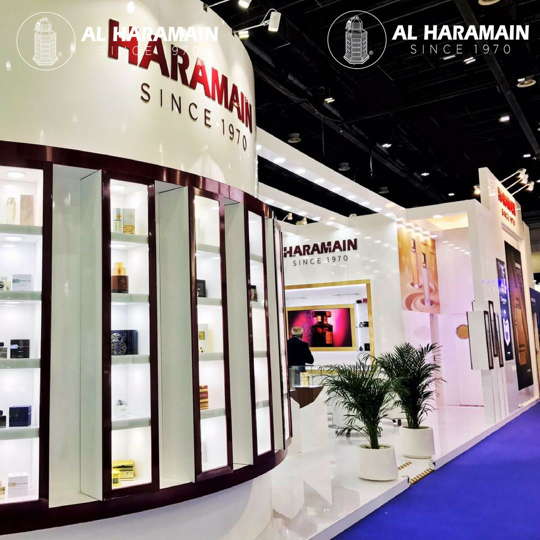 Al Haramain Perfumes' stand at the Beautyworld Middle East