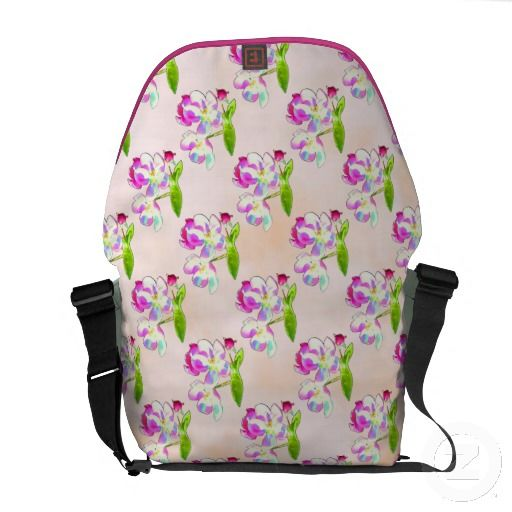 Cosmic Blossoms Tiled Courier Bags from Jan4inisght* - I love the delicate blossoms and spring colors! $109.85