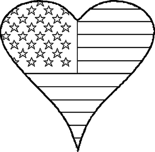 4th Of July Flag Day Coloring Pages Download Print Online Coloring Pages For Free Col Flag Coloring Pages Heart Coloring Pages Veterans Day Coloring Page