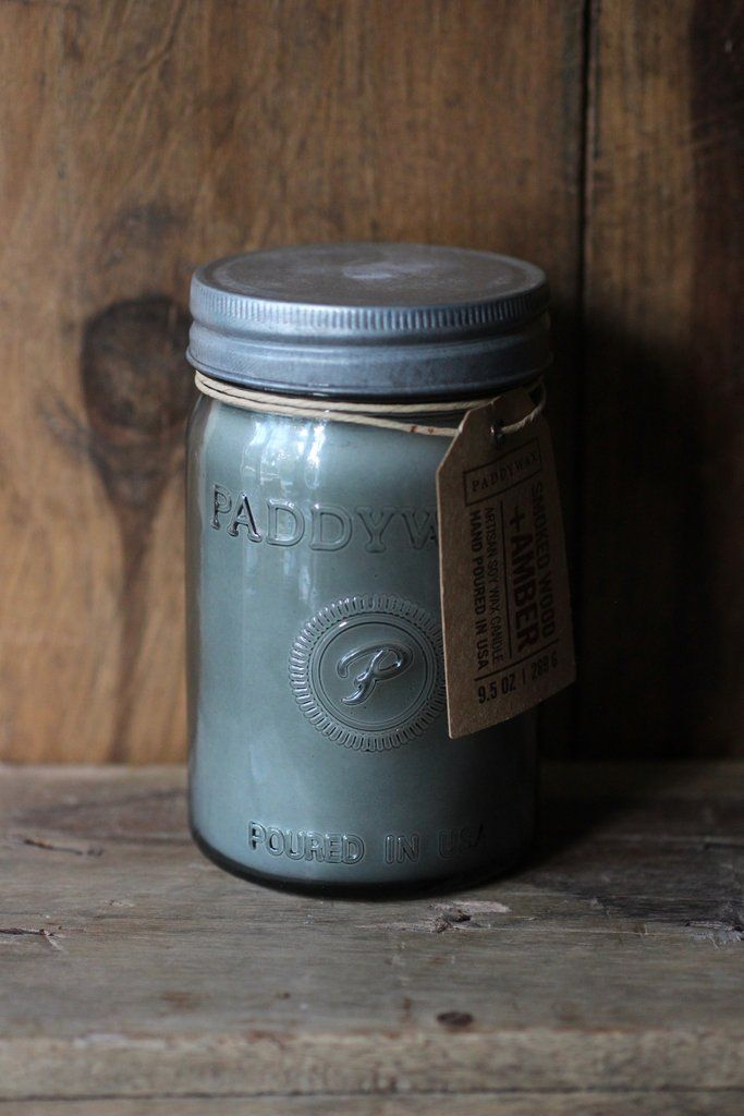 Paddywax Smoked Wood Candle Smoke Fragrance Candle