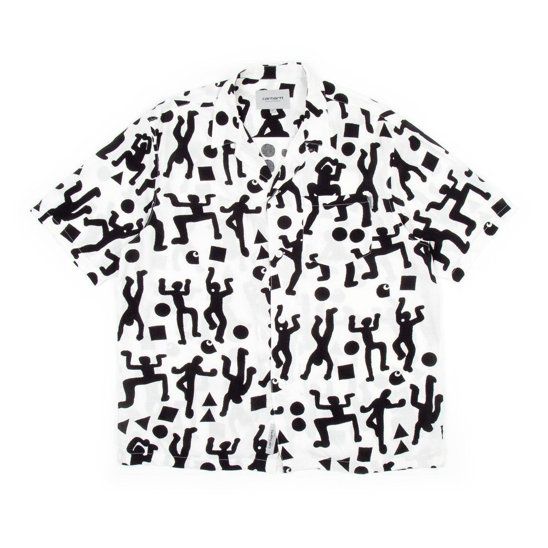 bab3cf0b72 Carhartt S/S World Party Shirt (White & Black) - Number Six | Garms ...
