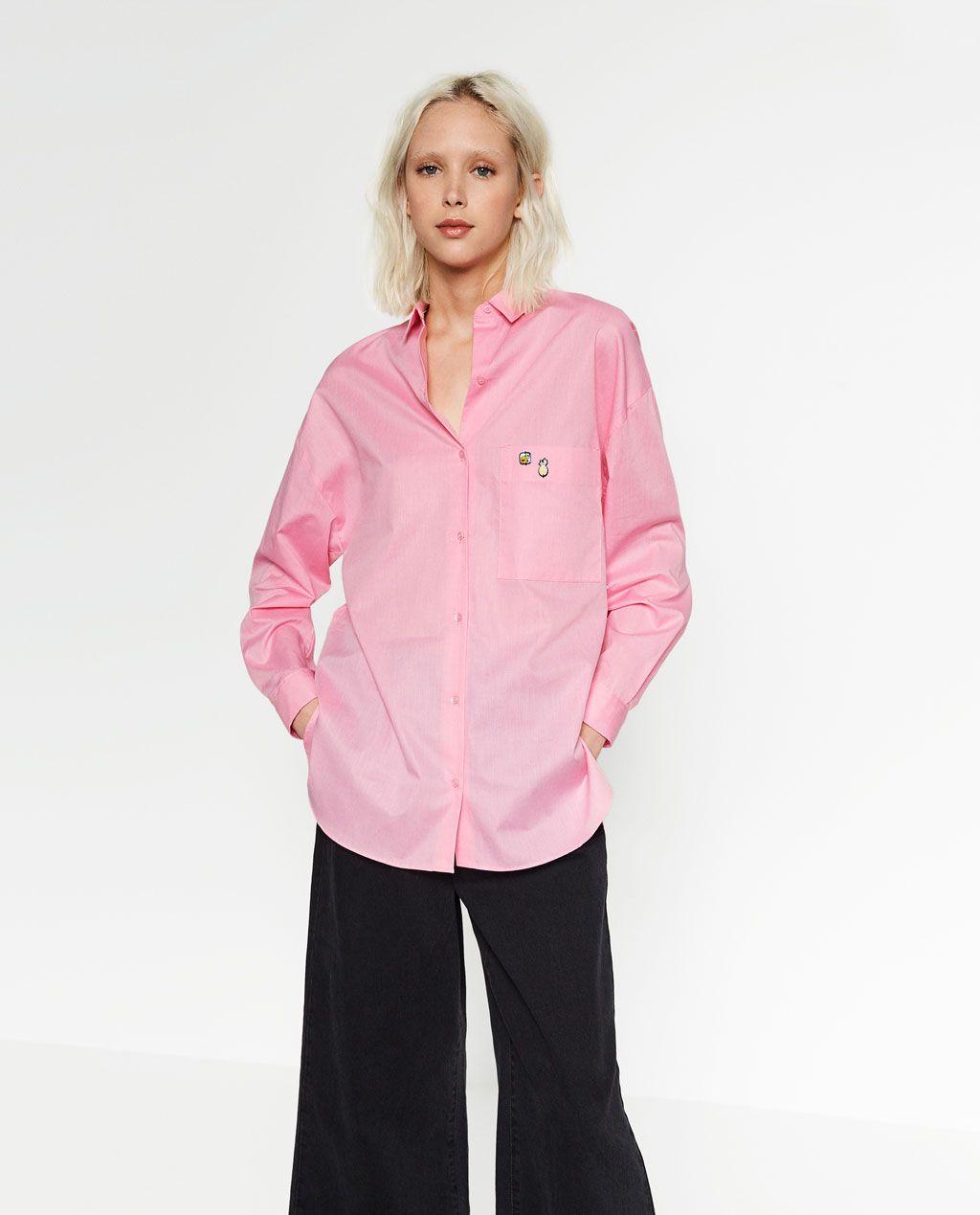 Wardrobe Met Nederland Nieuw New TrfZara Overhemd Badges fIbY6v7gy