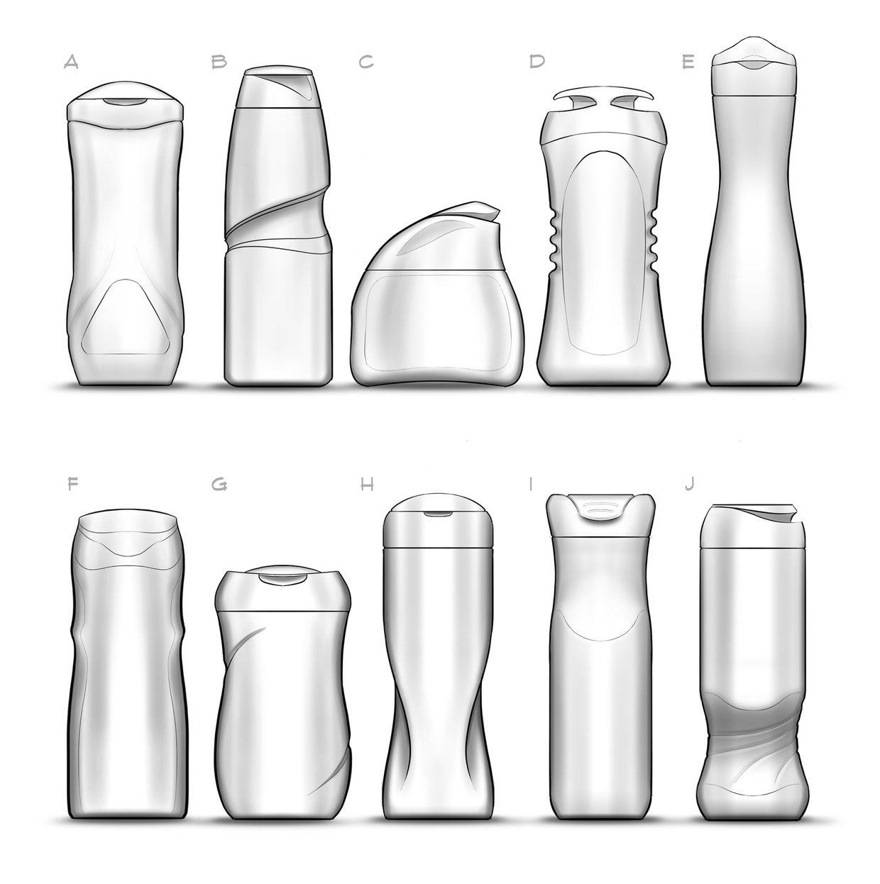Shampoo Bottle Design on Behance -different shape,smooth ...