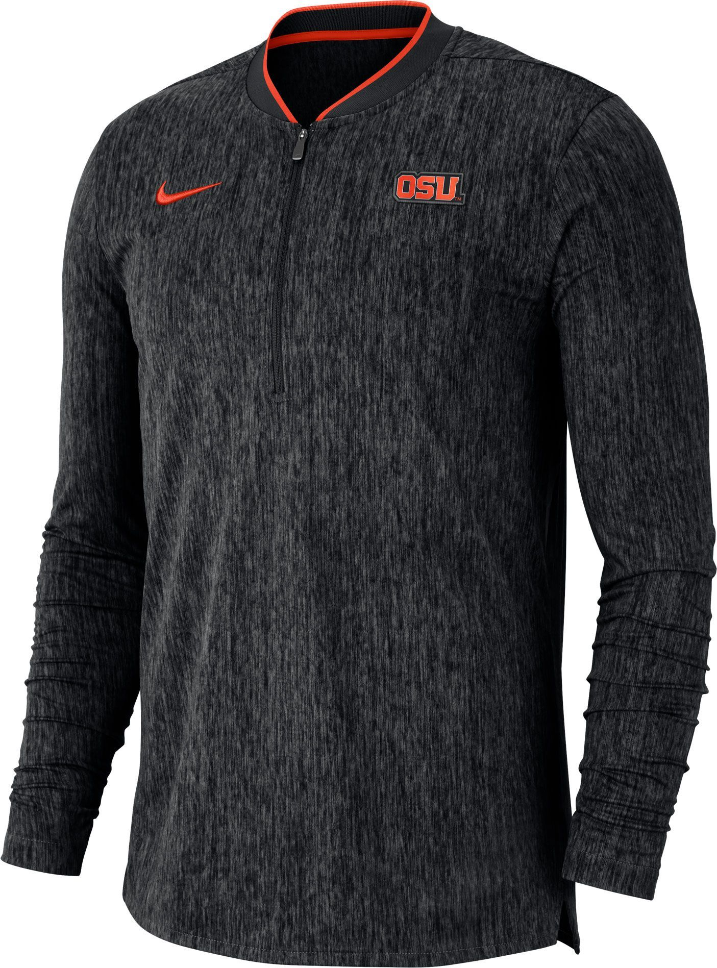 743c703499b Nike Men's Oregon State Beavers Coach Half-Zip Football Sideline Black  Jacket, Team