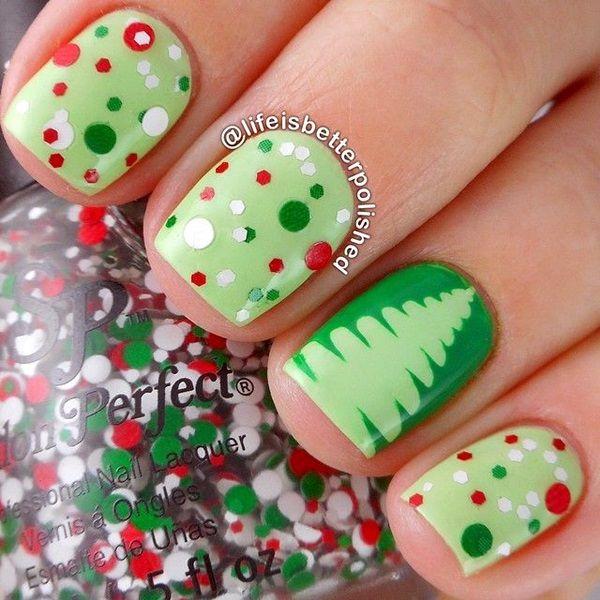 40 Inspirational Winter Nails Designs 2017 | Diseños de uñas, Uñas ...