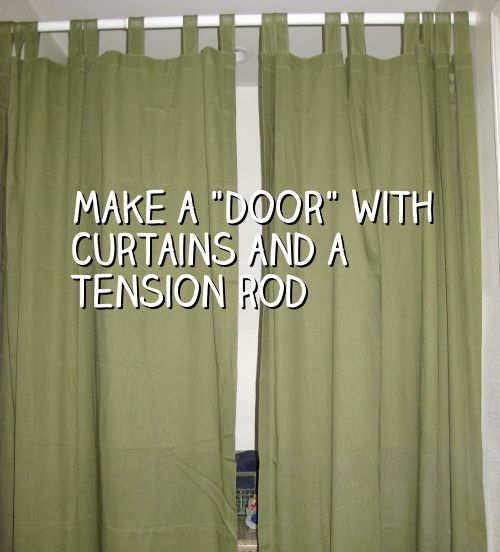 If You Have An Open Doorway In Your Home That D Like To Block Off For Privacy There S A Simple Inexpensive Way Do It