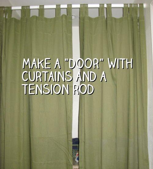 Makeshift Closet Doors Choice Image Design Modern & makeshift curtain rod | www.stkittsvilla.com