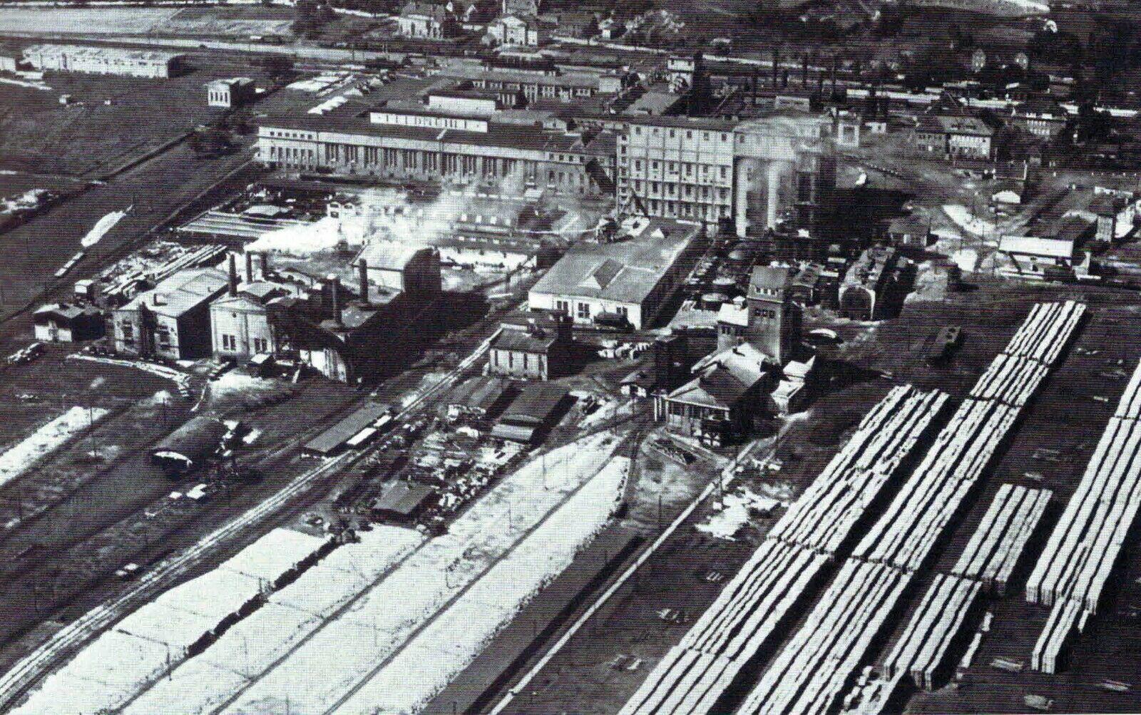 Stettin Szczecin Papierfabrik Feldmuhle Luftbild Pommern 1931