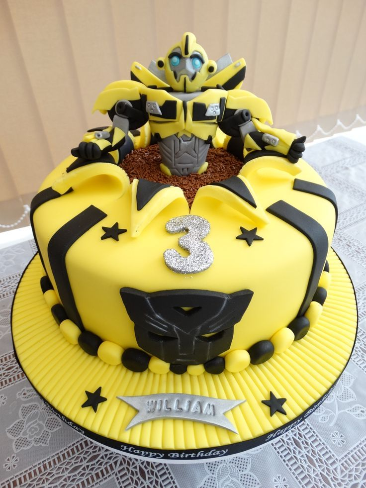 Bumblebee Transformers Cake Birthday Cake Decorating