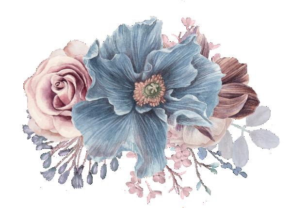 Dusty Blue And Mauve Floral Elegant Watercolor Throw Pillow Zazzle Com Floral Watercolor Flower Drawing Watercolor Throw Pillow