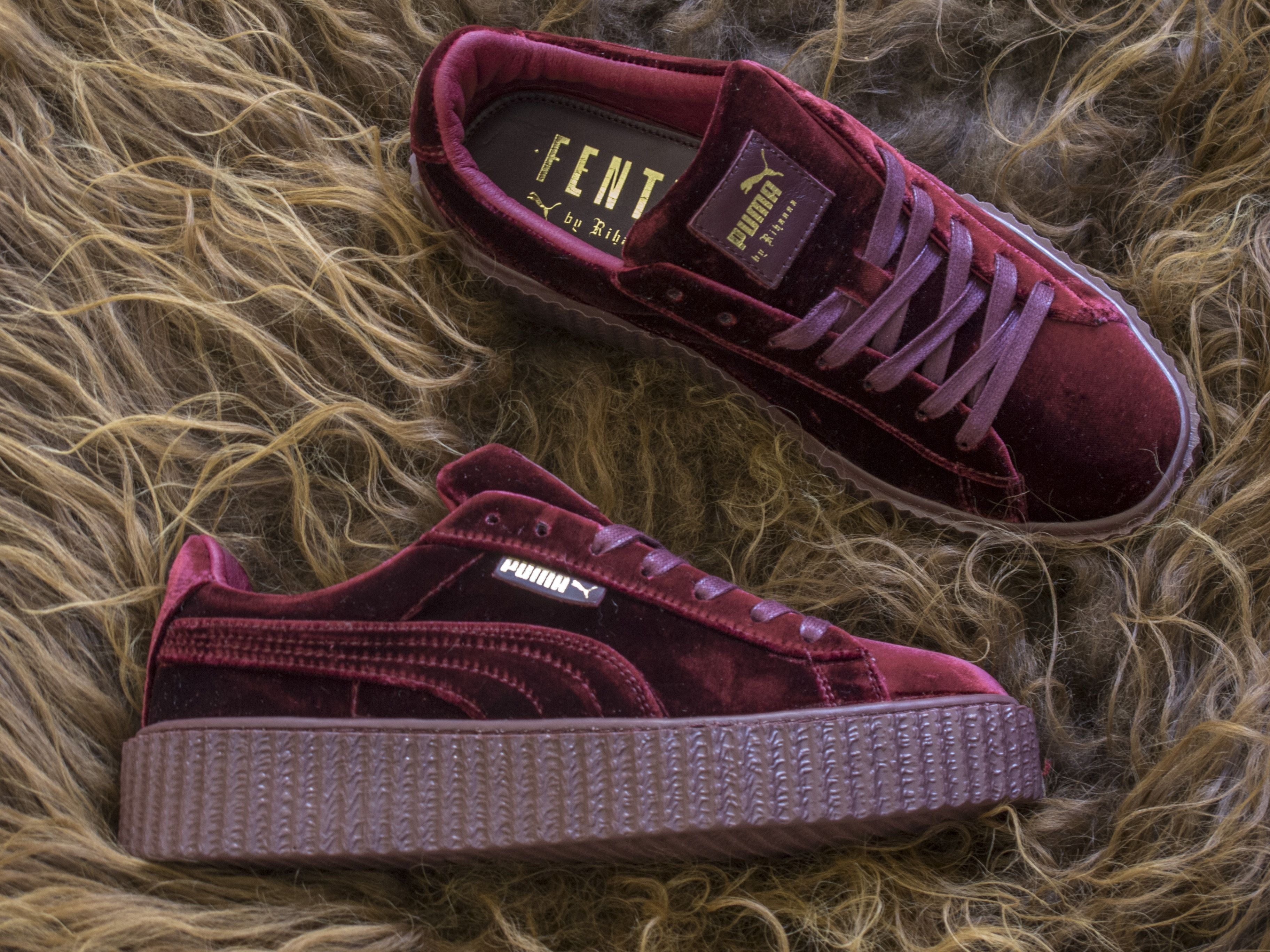 030b67ae70a5 Watch out for fake Puma Rihanna Creepers - Velvet when you shop online. Get  a 29 point step-by-step guide on spotting fakes from goVerify before it s  too ...
