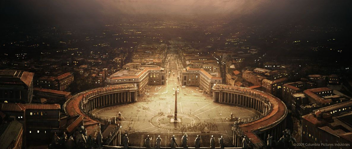 St Peter's square lit by anti matter explosion. | K A R L ...