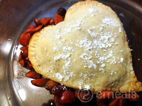 Heart Shaped Cherry Tarte. YUM!