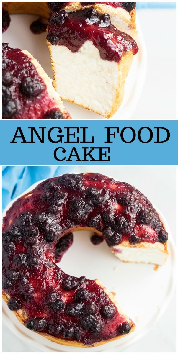 Easy angel food cake recipe with optional blueberry topping recipe easy angel food cake recipe with optional blueberry topping recipe from recipegirl forumfinder Images
