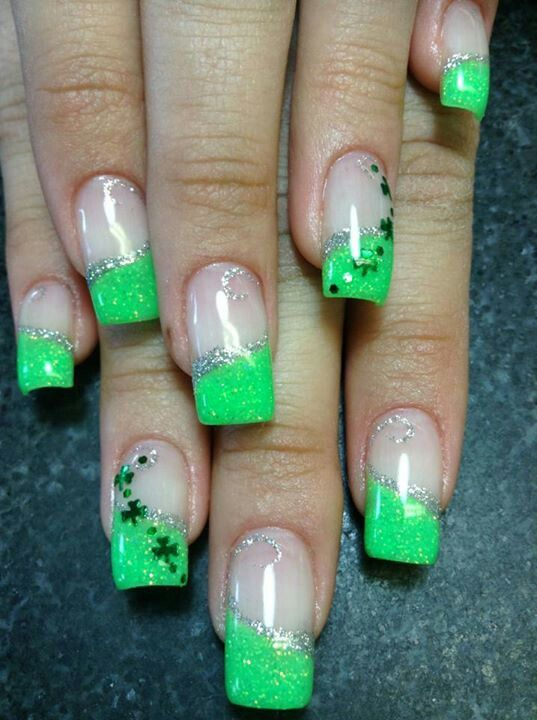 Saint patrick\'s day nails | Nails | Pinterest | Uñas picudas ...