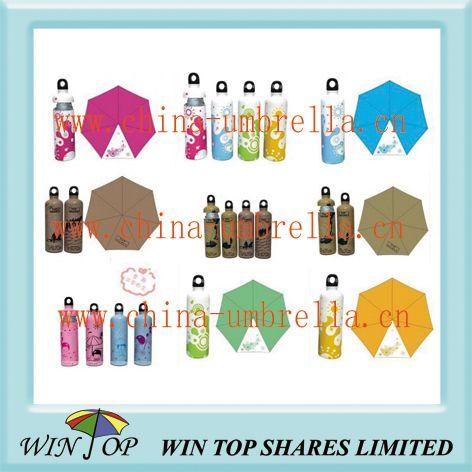 5 Folds Bottle Feature Umbrella - WIN TOP SHARES LIMITED XIAMEN WINTOP UMBRELLA CO., LTD.