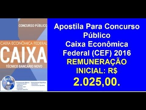 Apostila Concurso Publico Caixa Economica Federal Tecnico Bancario