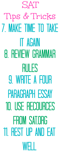 Sat Tip And Trick Reading Paragraph Essay Writing