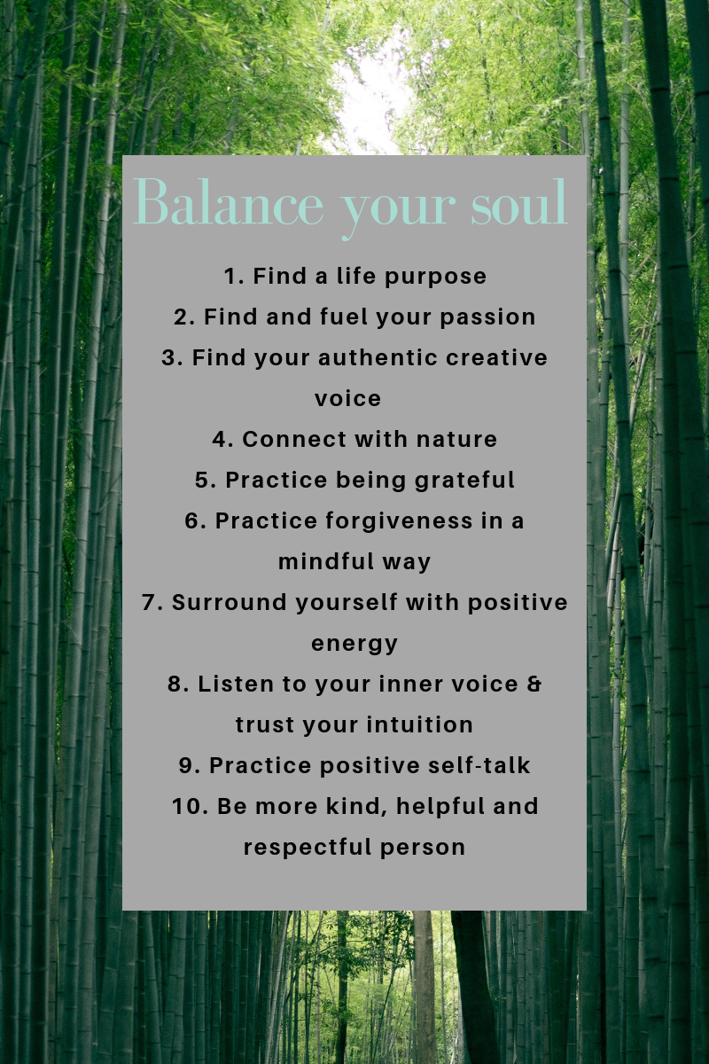 Healthy tips to balance your soul #soul #spirit #balanceyourspirit
