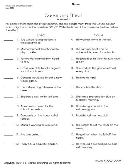 Printables Cause And Effect Worksheets For Middle School 1000 images about school on pinterest context clues names and the side
