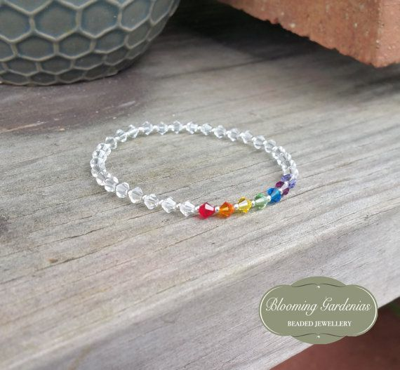 Rainbow Bracelet LGBT Pride Jewelry Rainbow by BloomingGardenias