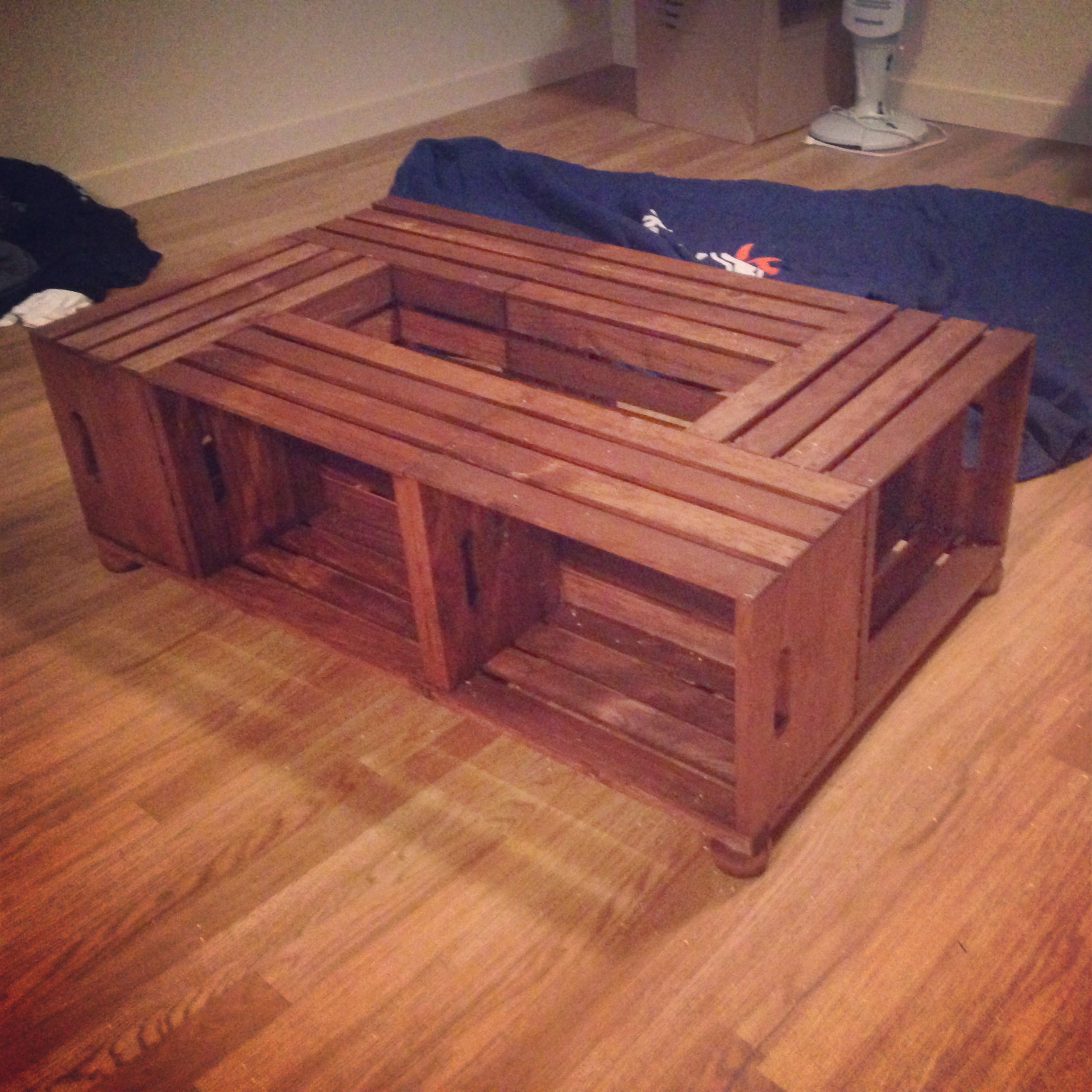 Coffee Table Made Of Wine Crates My Uploaded Pins Diy