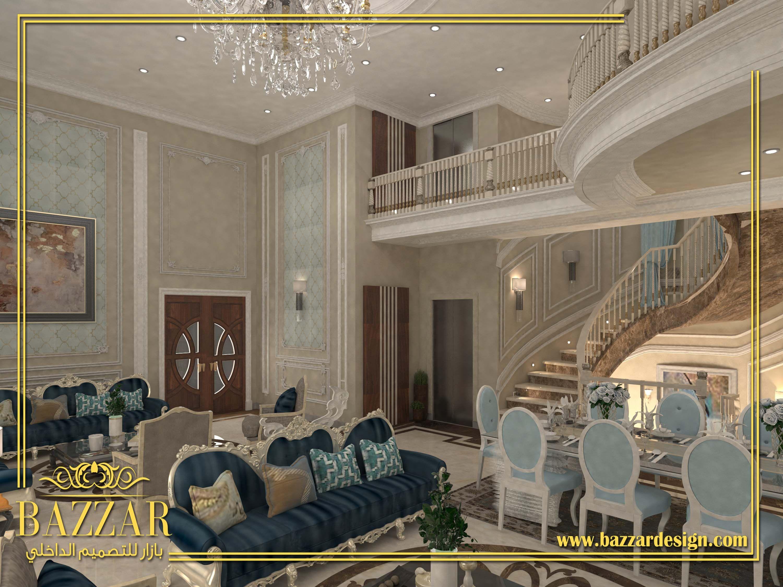 مجلس نساء نيوكلاسسيك بتصميم فخم وانيق استخدم فيه المصمم الخشب الكلاسيكي و البانوهات للحوائط Interior Interiordesign Decor Design Interior Design Interior