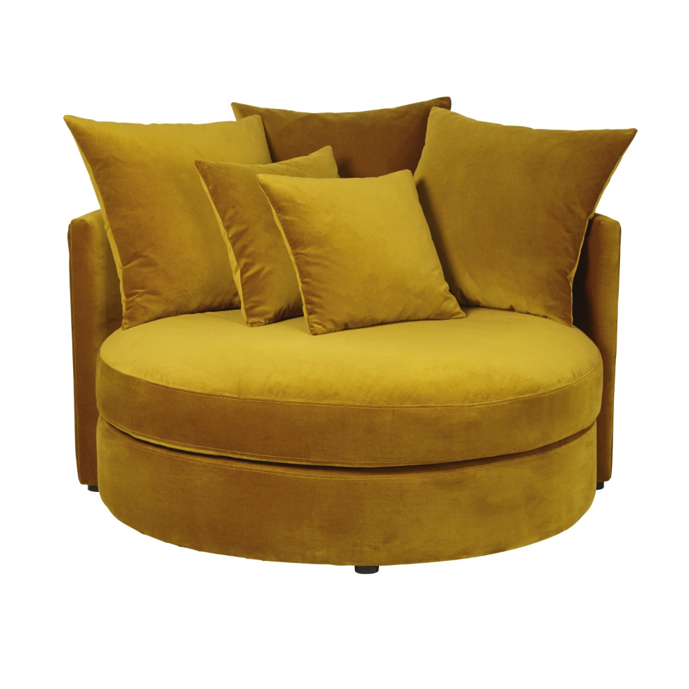 Maisons Du Monde In 2020 Velvet Sofa Round Sofa Sofa Home