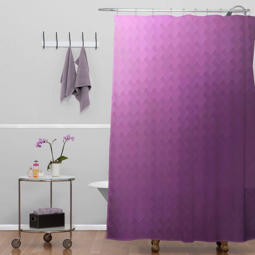 Fuschia Shower Curtain Deniz Ercelebi