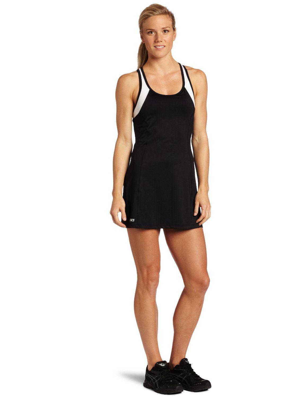 Asics Black and White Sports Women's Dress