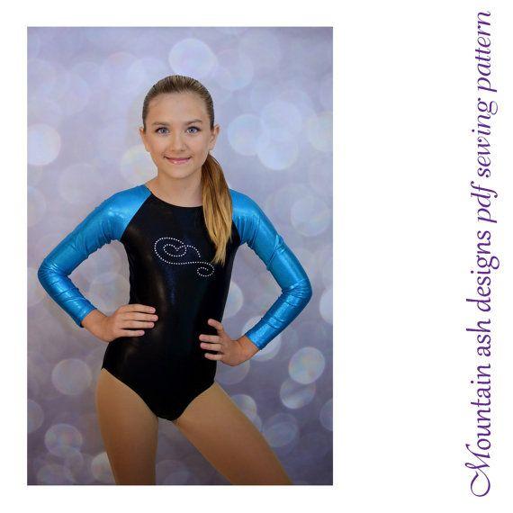 Leotards 4 pdf sewing pattern gymnastics long von tumblentwirl ...