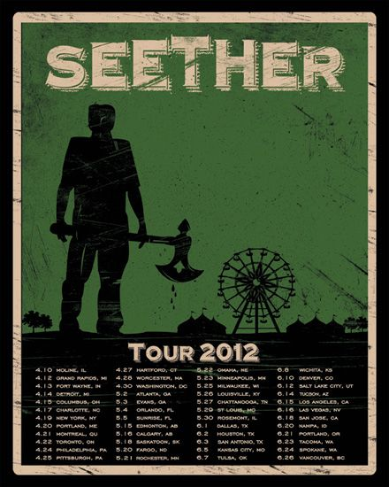 Seether played here as part of the Nickelback Here and Now