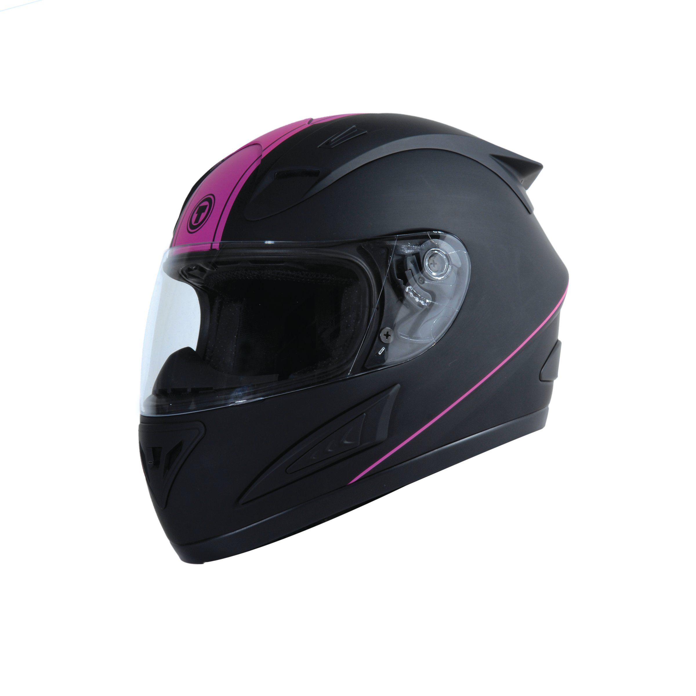 a99004e6 Torc T 10 Ladies Stiletto Matte Black Pink Bluetooth Full Face Motorcycle  Helmet | eBay
