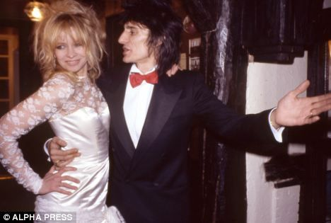 Wedded bliss: Ronnie Wood, and Jo on their wedding day in 1985. They split in 2008