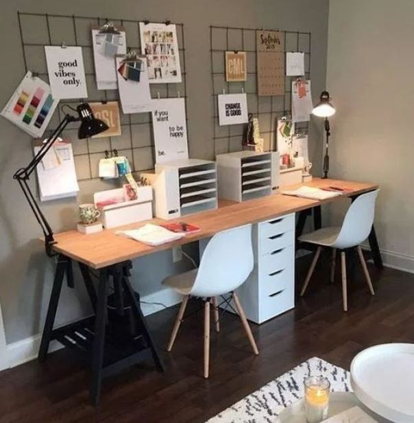 19 Excellent Home Workspaces You Should Copy Homelysmart In 2020 Home Office Space Modern Home Office Home Office Desks