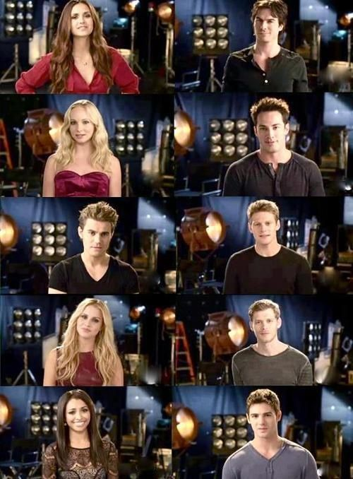 TVD cast Behind the scenes of Season 4 photoshoot  The Vampire