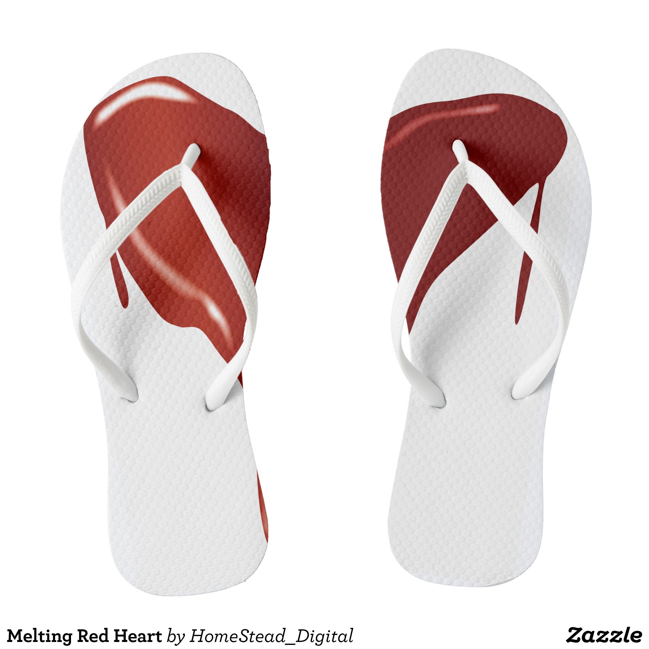 168f9ed332d9f Melting Red Heart Flip Flops - Canvas-Top Rubber-Sole Athletic Shoes By  Talented Fashion And Graphic Designers -  shoes  sneakers  footwear   mensfashion ...