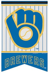 Milwaukee Brewers Retro Glove MLB Baseball Premium Felt Banner - Wincraft