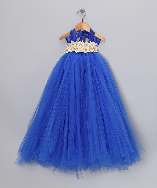 023d21b57c1d6 Take a look at this Bébé Oh La La Royal Blue Garden Tulle Dress - Infant,  Toddler & Girls on zulily today!