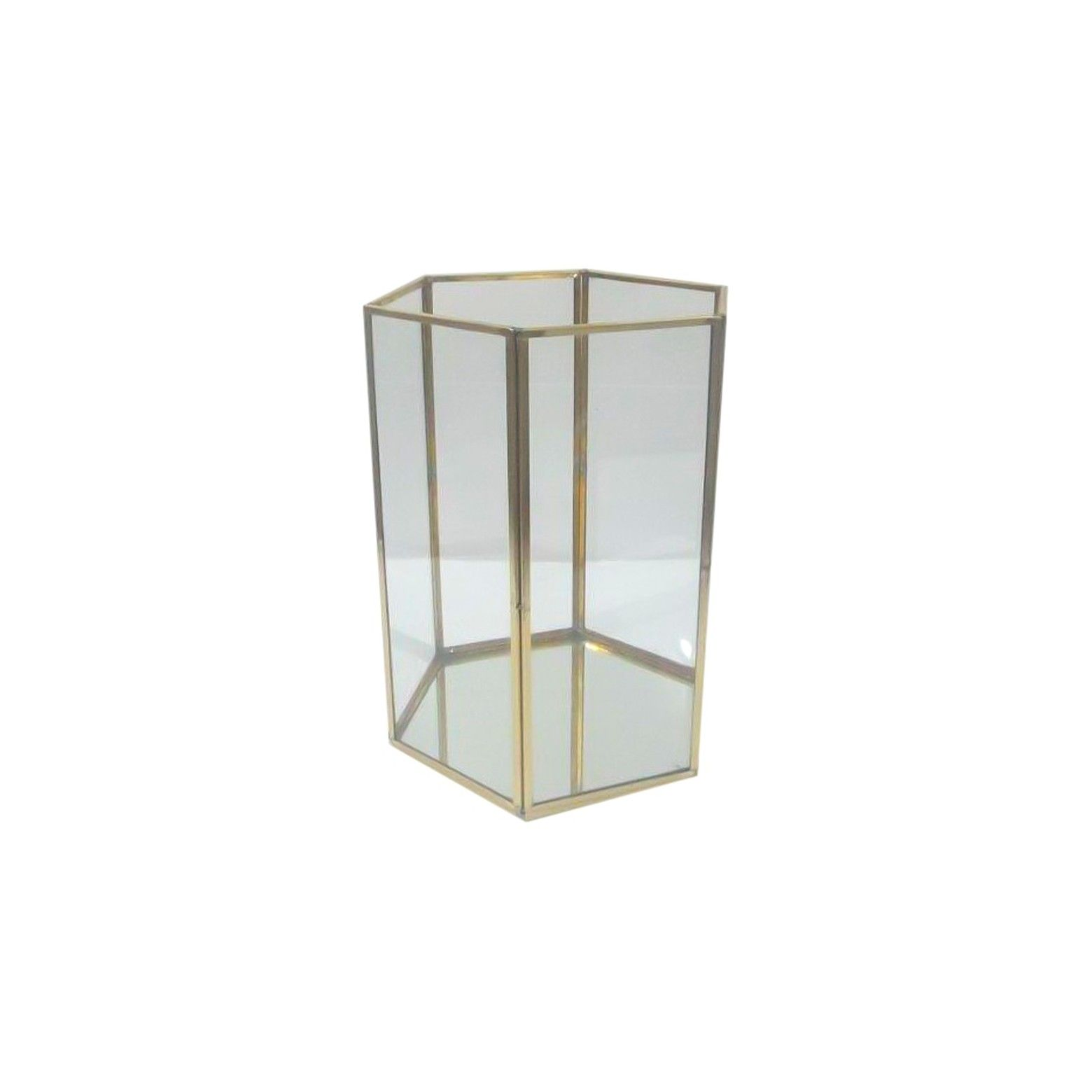 Terrarium gold large threshold light gold terraria lamp light