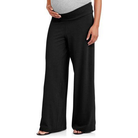 10cd0eba708de6 Planet Motherhood Maternity Wide Leg Yoga Pants, Size: Small, Black ...