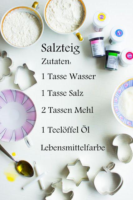 Berühmt pfefferminzgruen: Mini Kerzenhalter aus Salzteig | Slané těsto JK51